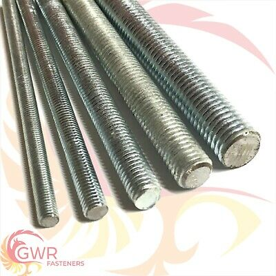 M6 M8 M10 M12 High Tensile 8.8 Threaded Bar - Rod Studding - 300mm or 500mm