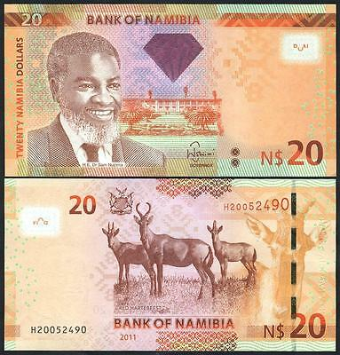NAMIBIA 20 Dollars 2011 UNC P 12 a