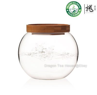 Glass Round Canister * Hermetic Caddy 1200ml FH-290MW