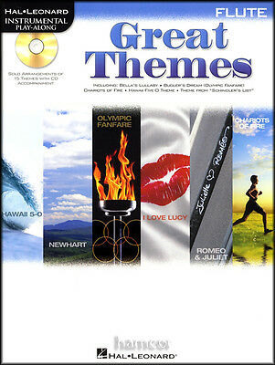Great Themes Flute Instrumental Playalong Sheet Music Book & CD TV Movie Film