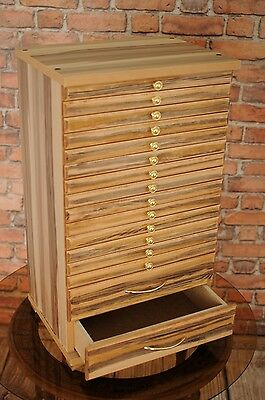 Bal14  Coin Tray Collectors Collection Cabinet For 14 Trays Baltimore Walnut
