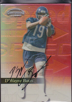 1999 Playoff Contenders SSD Speed Red #179 D'Wayne Dwayne Bates Auto 034/100