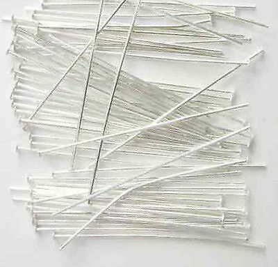 200 x Silver Plated Lead Free Headpins - Choose Size