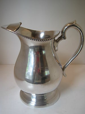VTG BRISTOL 22A SILVER PLATE SILVERPLATE ICE LIP WATER PITCHER EPCA 9""