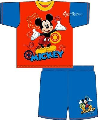 Boys Disney Mickey Mouse Clubhouse Short Pyjamas Ages 1-4 Years