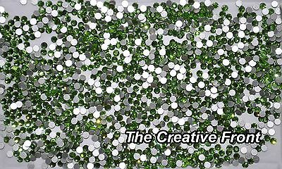 1440 Crystals - Flat Foiled Backed - Green - New Packaged