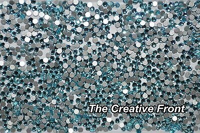 1440 Crystals - Flat Foiled Backed - Teal Blue - New Packaged