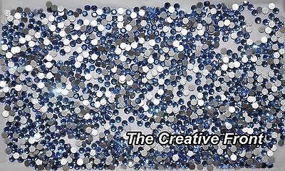 1440 Crystals - Flat Foiled Backed - Sky Blue - New Packaged
