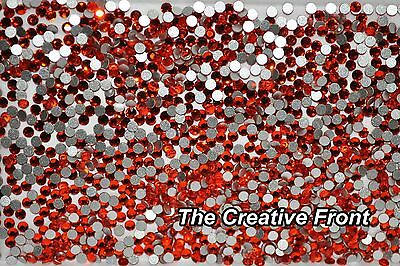 1440 Crystals - Flat Foiled Backed - Orange - New Packaged