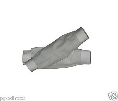 Chrome Leather Welders Sleeves outside elasticated 14""