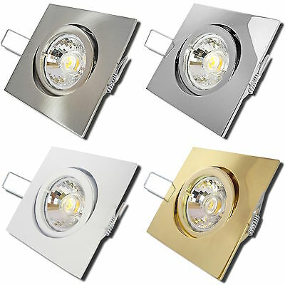 1>10er Sets- SMD Einbaustrahler Dario 230Volt Downlights 5W Power LED Einbauspot