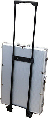 1000 Wheeled Chip Case with 3 Card Slots Holds 1000 Poker Chips and 3 Decks  *