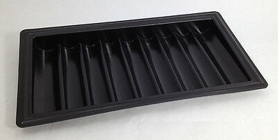 BLACKJACK DEALER CHIP TRAY 9 SLOTS Flexible Plastic 450 Chips Las Vegas Style *