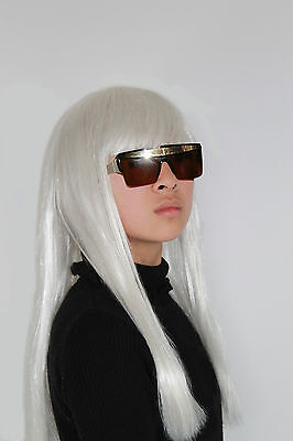 Prime Qualtity Light Blonde Straight Lady Gaga Costume Wigs
