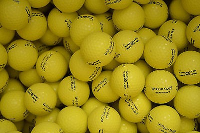 100 Yellow Range Golf Balls.......a Must Buy For Any Golfer