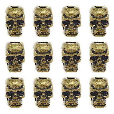 30X Vintage Style Bronze Color Skull European Beads 5mm Jewellry Finding10*9*7mm