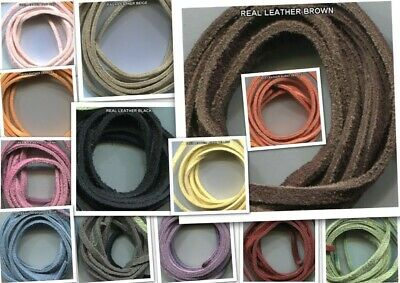 2*1m Real or 3*1m Faux Suede Leather Cord.Genuine.Immitation Jewellery Lacing