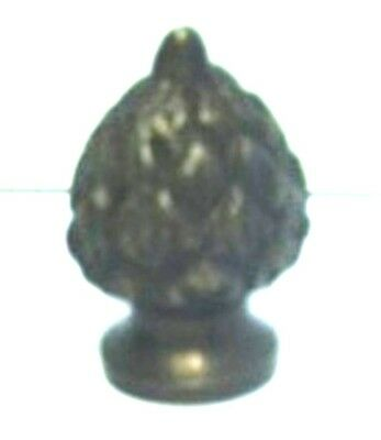 11288A - Solid Brass Antique Finish Lamp Acorn Finial, Polished & Lacquered