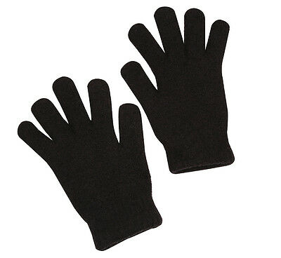 Winter Acrylic Gloves - Pair Set in Black or Navy