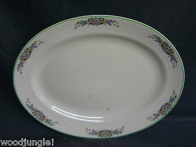 ART DECO OSTROW CHINA PRINCESS ANNE GOLDEN DUSK PLATTER 1931 Vintage