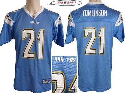 Maillot nfl Foot US américain CHARGERS 21 Tomlinson Youth XL (us) -> M (fr)
