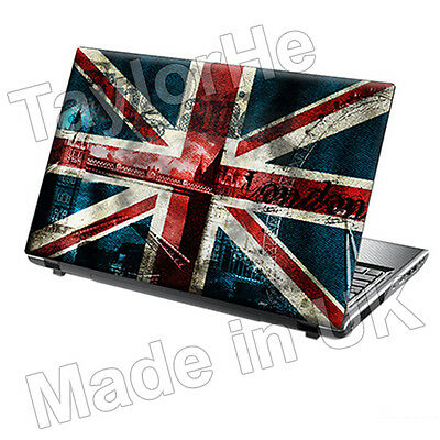 """15.6"""" TaylorHe Laptop Vinyl Skin Sticker Decal Protection Cover Union Jack 1177"""