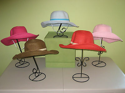 Sun Hat Packable Foldable Wide Brimmed Girls Ages 4-12 Years Seven Colors!