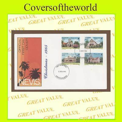 Nevis 1985 Christmas set First Day Cover