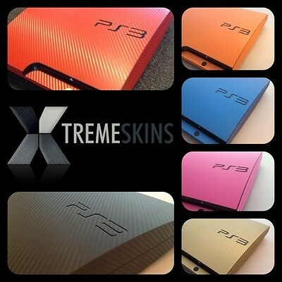 Textured Carbon Fibre Skin Sticker Kit For PLAYSTATION 3 PS3 Wrap Decal Cover