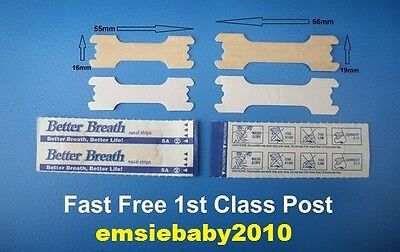50 x BETTER BREATH NASAL STRIPS REGULAR or LARGE Right Way To Stop Snoring