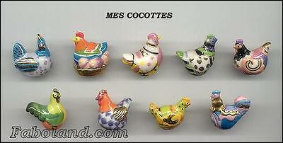 """Feves  POULES  MES COCOTTES """"Filets Or"""" AN619  AR"""
