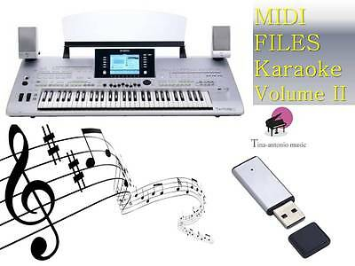 MIDI File Karaoke USB stick for Tyros 3 NEW Volume 2