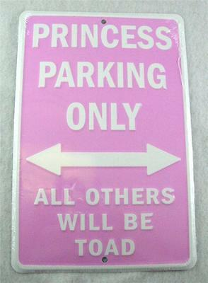Pink Princess Parking Only All Others Will Be Toad Metal Sign **free Shipping**