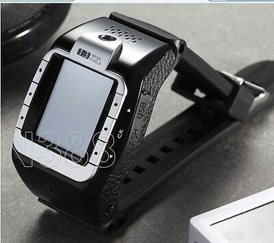 Watch Mobile Cell Phone Unlocked GSM Tri-Band Spy Camera Touch Screen Black