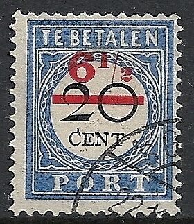 Netherlands stamps 1906 NVPH Due 29fc ERROR CANC  VF