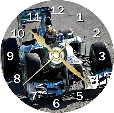 Lewis Hamilton Car F1 Novelty Cd Clock Can be personalised