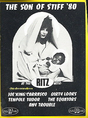 SON OF STIFF 1980 punk flyer the Ritz NYC Stiff Records artists