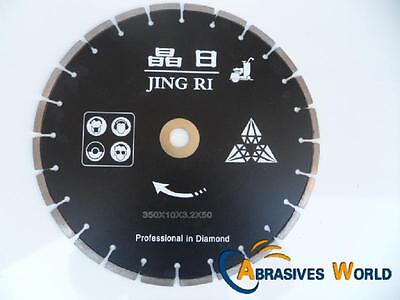 "14""  (350Mm) High Quality Diamond Cutting Blade For Concrete, Granite And Bricks"