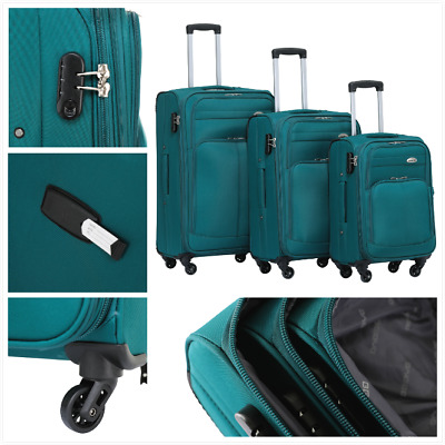 REISEKOFFER KOFFERSET TROLLEY KOFFER 8005-M(Boardcase)--L--XL--Set in 7 Farben