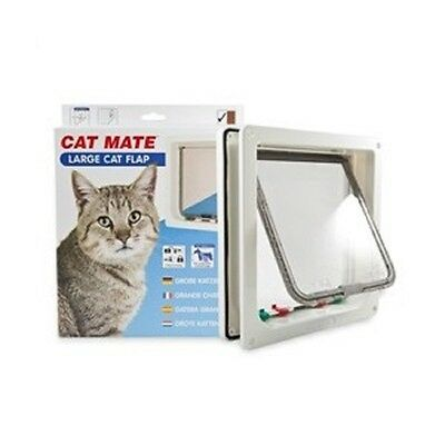 Cat Mate Lockable Large Cat Flap - White (221W)