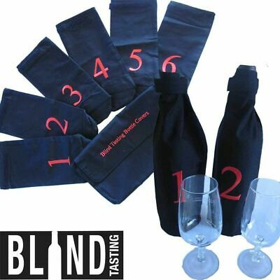 Blind Wine Tasting Kit 6 Numbered Bottle Covers Wine Taste Party Red White Wine