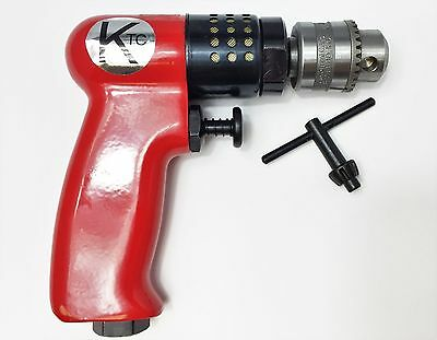 "Air Drill Small & Lightweight Pneumatic Palm Drill KTC 1/4"" 2800RPM  NEW"