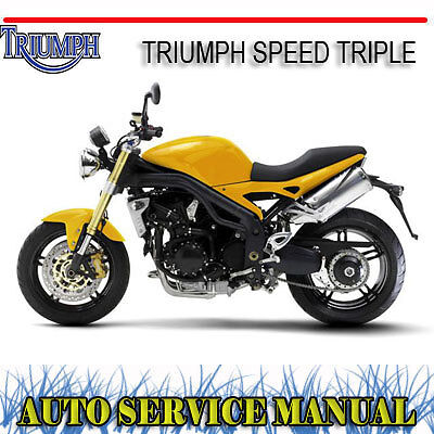 Triumph Speed Triple 2005 Onwards Bike Repair Service Manual ~ Dvd