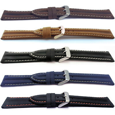 Genuine Leather Water Resistant Watch Strap 16 18 20 22mm
