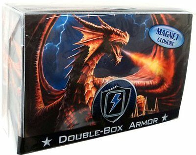 Yugioh Max Protection Dragon Fury Double Deck Box w Divider