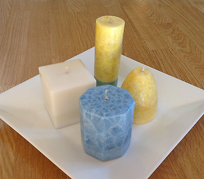 Palm Candle Making  - 1kg Palm Wax fine candle wax white beads Pillar,