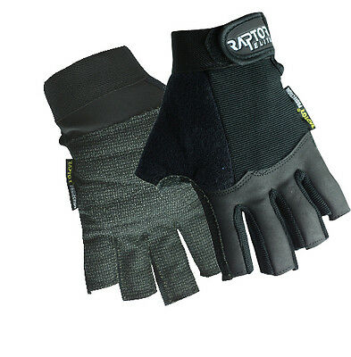 New Raptor Tough Padded Wheelchair/Crutch 3/4 Fingered Gloves XS/S/M/L/XL/XXL