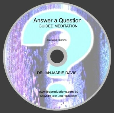 Guided Meditation CD Answer a Question by Jan-Marie Relax Music Voice