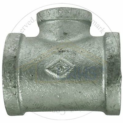 """5 x Gal. Malleable Pipe Fitting  Reducing Tee 1-1/4""""x 1-1/4""""x 3/4"""""""