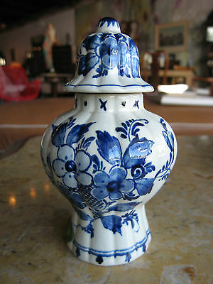 Vintage Royal Gouda Zuid Holland Delft Ginger Jar